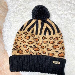Vans Animal Print n Black Pom Pom Beanie Hat